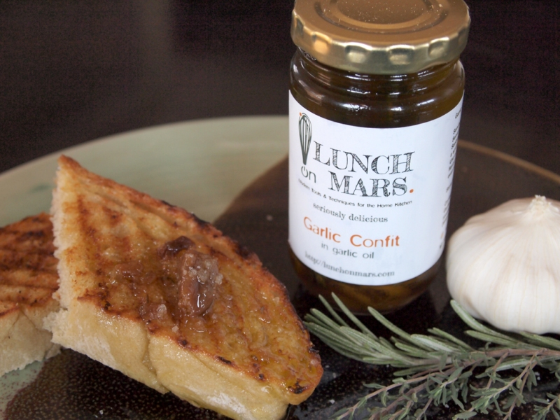 Lunch on Mars Garlic Confit