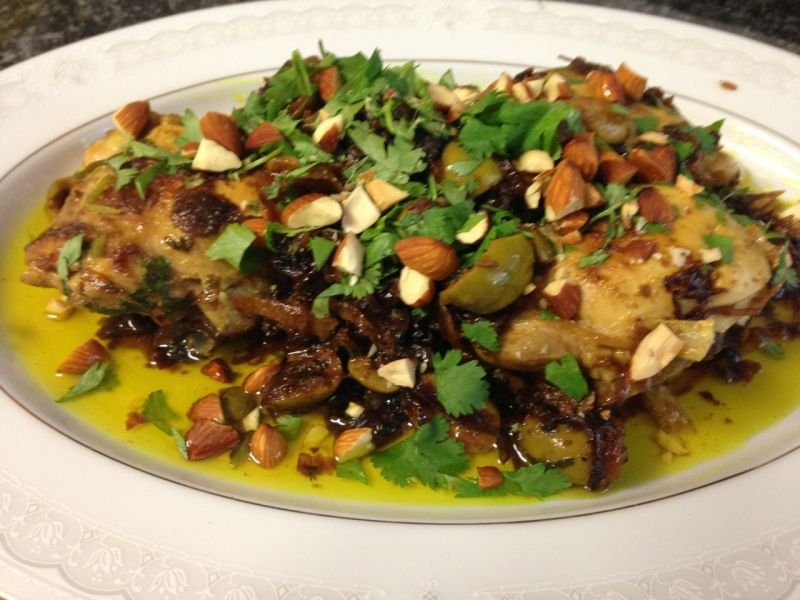 Chicken and preserved lemon tagine.