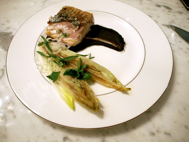 Sea Bass with Jet-black Puree
